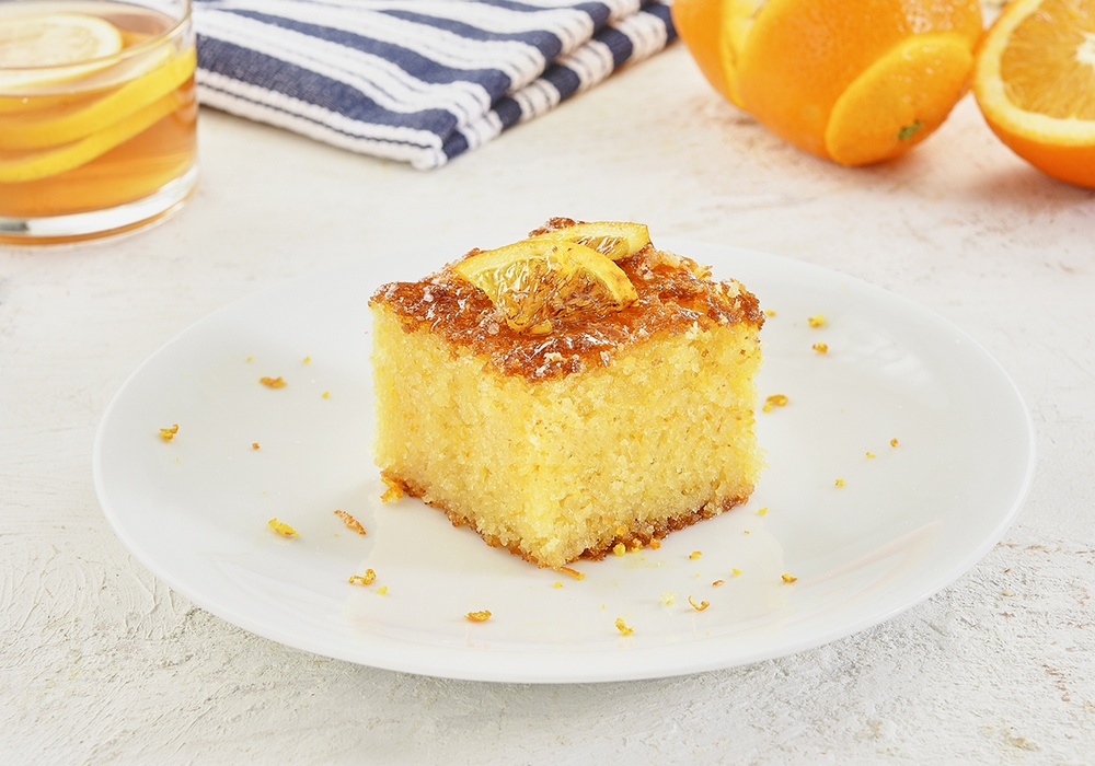 BAKED SEMOLINA WITH ORANGES